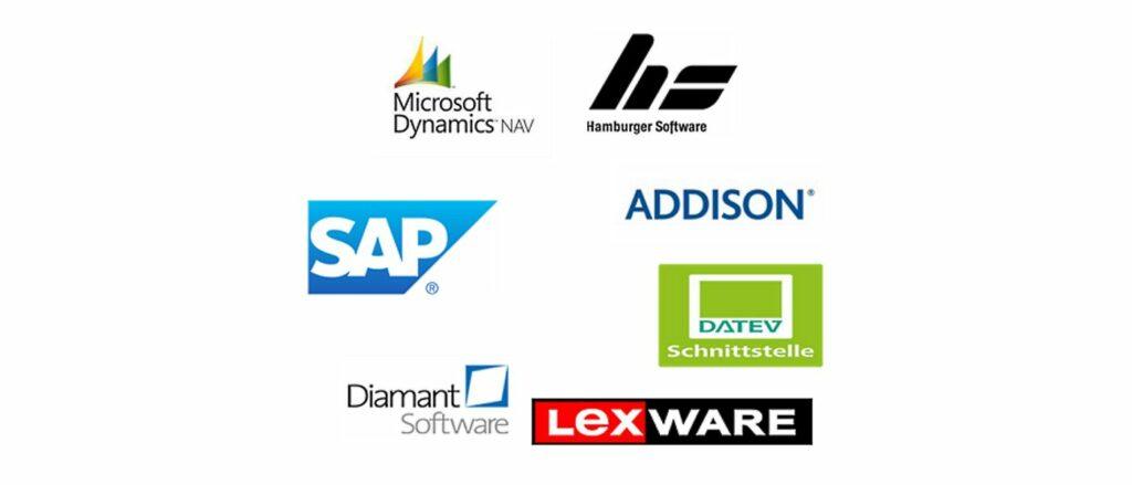 Logos von Buchhaltungs-Programmen